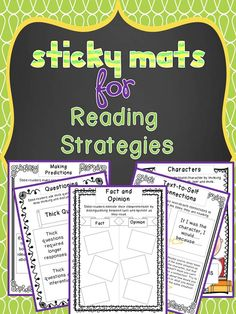 Graphic organizers for Sticky Notes; 38 mini lesson ideas$