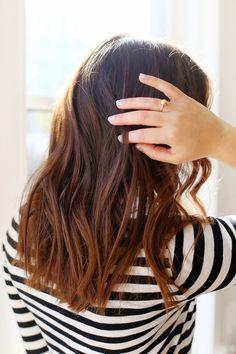 Chestnut Mid Length Healthy Hair