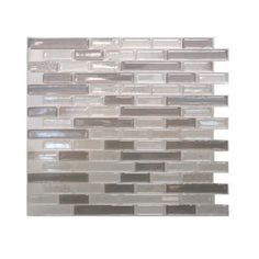 Smart Tiles Muretto Beige 10.25 in. x 9.13 in. Mosaic Decorative Wall Tile in Light Brown-SM1055-1 - The Home Depot