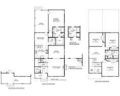"House Plan 2402 BLAIR floor plan - 2402 Square Feet 28'-0"" wide by 64'-0"" deep 4 Bedrooms/2 1/2 baths Formal Dining Room Optional Full Porch"