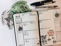 studyskylar: my earth-day spread full of plants :)