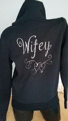 Wedding Honeymoon Wifey hoodie.  Handpainted, made to order hoodie perfect gift for a honeymooning couple or as a wedding gift for a friend.  Quality hoodies, sizes 8 - 20 available.  Customised fashion.