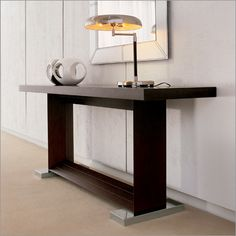 cattelan italia monaco console table, glass top by g. cattelan