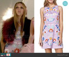Chanel 3's purple floral dress on Scream Queens. Outfit Details: http://wornontv.net/54127/ #ScreamQueens