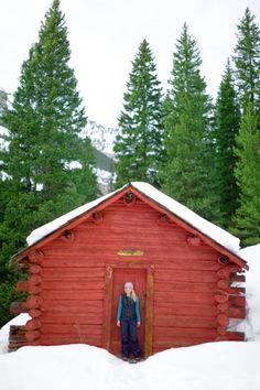 Little Red Cabin Near Jackson Hole, WY.