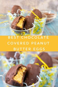 No-Bake Best Chocolate Covered Peanut Butter Eggs are one of the most popular desserts. Better than a Reese's Peanut Butter Cup. Peanut Butter Eggs, Peanut Butter Filling, Creamy Peanut Butter, Chocolate Peanut Butter, Best Dessert Recipes, Easy Desserts, Delicious Desserts, Yummy Food, Best Chocolate
