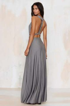 Lioness Voltage Multi Wear Maxi Dress - Gray | Shop Clothes at Nasty Gal!