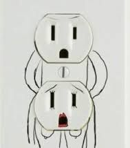 You'll never look at a wall socket the same. Heart Sign, We Heart It, Electrician Humor, Nasty Quotes, Live Laugh Love, Funny Gifts, Hilarious, Funny Stuff, Funny