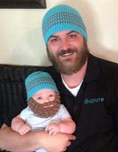 Cute baby & daddy beard duo!