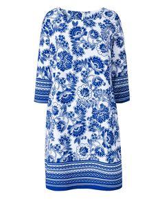 Border Print Tunic Dress at Simply Be