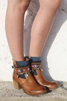 Bohemian boot belts from Ibiza by AUROBELLE on Etsy, €35.00