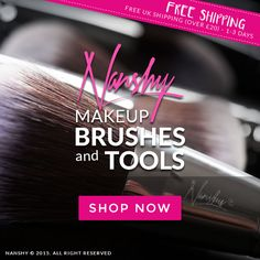 Did you know? Nanshy offers FREE UK SHIPPING (1-3 days) when you spent over £20. Get your fave makeup brushes and tools NOW! http://nanshy.com