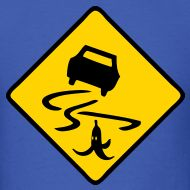 """Slippery when wet....or when Donkey Kong slings a banana at you while driving your """"Mario Kart"""""""