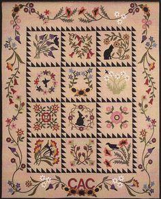 Folk Art Album, a wool wall quilt