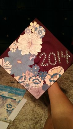 My grad cap diy 2014  -tacky glue -designer paper -bling bling  -and some extra time  :-) have fun