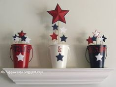 DIY: 4th of July Buckets.