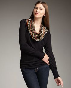 Honeycomb Cowl-Neck Top by M Missoni at Neiman Marcus. $135