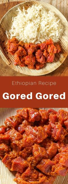Popular in Ethiopia and Eritrea, gored gored is a dish of raw beef cut into small cubes, usually flavored with niter kibbeh, berbere, mitmita and awaze. #ethiopia #ethiopianfood #ethiopianrecipe #ethiopiancuisine #worldcuisine #196flavors Ethiopian Cuisine, Fusion Food, International Recipes, Diet Recipes, Healthy Recipes, Other Recipes, Ethnic Recipes, African Recipes, Favorite Recipes