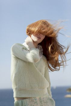 Hair in the wind!