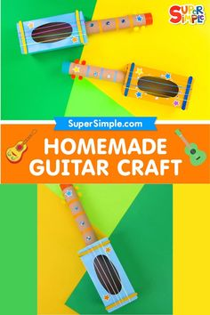 Make a fun and easy DIY guitar craft and have fun learning about music!