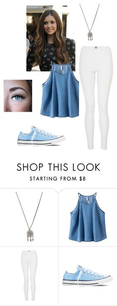 """""""outfit-allison"""" by keelin-harrison ❤ liked on Polyvore featuring With Love From CA, Chicnova Fashion, Quiz and Converse"""