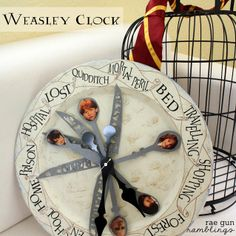 Weasley Family Clock Tutorial - Rae Gun Ramblings