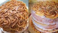 O bolo de maior sucesso na internet. Não tem como não amar. Bolo churros. Com doce de leite e canela. Delícia.