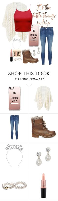 """""""[D] HAPPY (LATE) NEW YEAR!"""" by iz-so-kray-kray ❤ liked on Polyvore featuring Casetify, MANGO, 3x1, Steve Madden, MAC Cosmetics and 2017"""