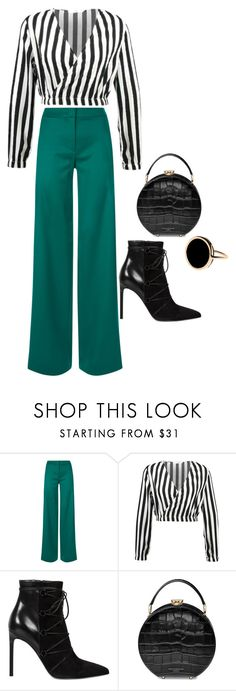"""""""Stripe it up!"""" by meghanleeson on Polyvore featuring La Perla, Yves Saint Laurent, Aspinal of London and Ginette NY"""