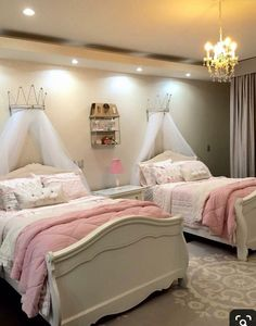 Teen Girl Bedrooms - Interesting yet breathtaking range of teen girl room images. For more enjoyable teen girl room styling info simply press the link to study the post example 2550980841 at once. Twin Girl Bedrooms, Sister Bedroom, Little Girl Rooms, Twin Girls, Twin Bedroom Ideas, Bedroom Kids, Girls Princess Bedroom, Modern Girls Bedrooms, Bedroom For Twins