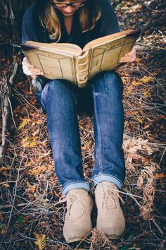 reading in the woods. @Eden White