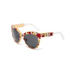 4 Limited Edition Sunglasses To Keep Your Eye On   The Zoe Report Mosaico Sunglasses, Dolce & Gabbana
