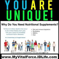 You are unique! Your supplements should be too! Find out which ones you actually need by taking our free health assessment.