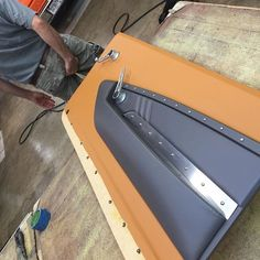 custom chevelle #BecauseSS door panels leather brown grey fiberglass