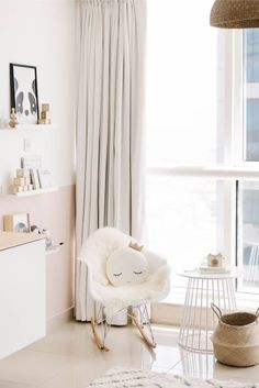 Scandi inspired baby girl nursery by House of Hawkes www.houseofhawkes.com