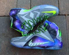 """The 'Dunkman' goes to infinity and beyond with this latest custom of the LeBron's latest signature by Sneaker Smart Customs, the Nike LeBron 12 """"Galaxy Dunk Force"""". This amalgamation of iconic Nike Basketball colorway motifs combines LeBron's yearly Dunkman colorway … Continue reading →"""