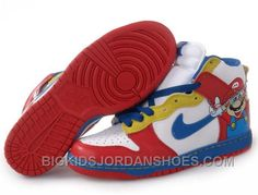 Nike Mario Shoes these are so sweet Nike Shoes Online, Discount Nike Shoes, Michael Jordan Shoes, Air Jordan Shoes, High Shoes, Blue Shoes, Men's Shoes, Nike Dunks, Sneakers Fashion