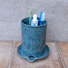 Cutlery drainer toothbrush holder utensil jar handmade