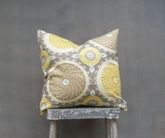 Taupe Gold and Gray Pillow Cover Decorative Throw by EdenPillows, $22.00