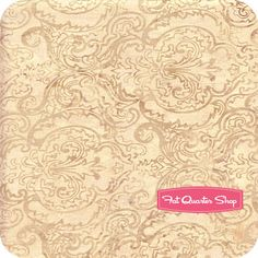 Fawn Path Batiks Antique Beige Damask Woodchop Yardage SKU# K2437-A25 - Fat Quarter Shop