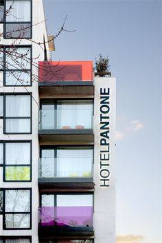 PANTONE Hotel in Brussels, Belgium. Click through for more photos...so colorful :)