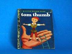 Tom Thumb Story Book - Little Golden Books - 1974 - Retro Vintage Children Fairy Tale Hardcover MGM Motion Picture by FunkyKoala on Etsy Fairy Tales For Kids, Little Golden Books, Vintage Children, Retro Vintage, Toms, Handmade Gifts, Pictures, Etsy, Art