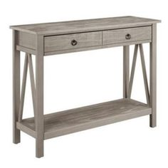 Charmant Buy Bowery Hill Console Table In Rustic Gray At Walmart.com