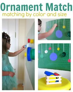 Fun color matching activity for kids with a Christmas theme.