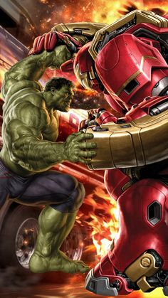 #Hulk #Fan #Art. (Hulk VS Hulkbuster) By: Ammar Joozar. (THE * 5 * STÅR * ÅWARD * OF: * AW YEAH, IT'S MAJOR ÅWESOMENESS!!!™) ÅÅÅ+