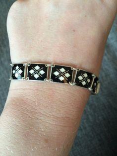 Enamel Vintage Bracelet by VintageAndNewNorway on Etsy