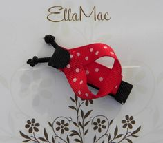 Ladybug Hair Clip by ellamac on Etsy