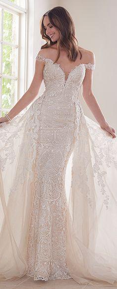 564c9ad4573 Off-Shoulder Two-Piece Wedding Dress Set - Y21810A Diamond