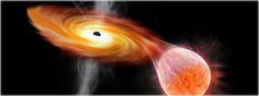 buraco negro devorando uma estrela é visto pela primeira vez