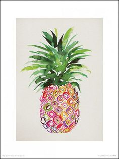 The Art Group - Summer Thornton (Pineapple), reproduction sur toile, 40 x 50 cm Pineapple Painting, Pineapple Art, Pineapple Ideas, Pineapple Tattoo, Pineapple Delight, Canvas Art Prints, Painting Prints, Canvas Wall Art, Paintings